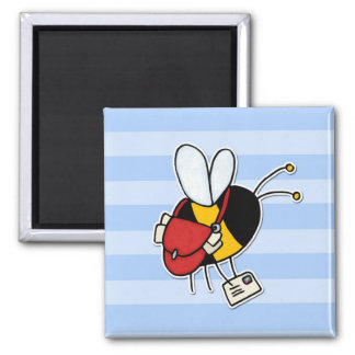 worker bee - postal worker 2 inch square magnet