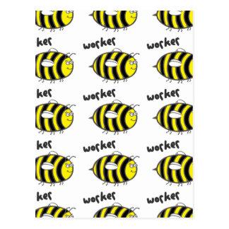 Worker Bee Postcard