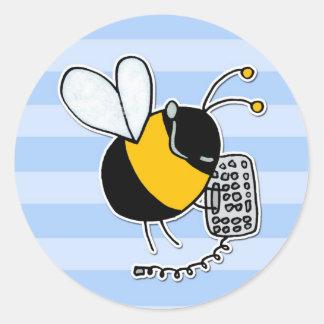 worker bee - sales classic round sticker