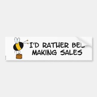 worker bee - salesman bumper sticker