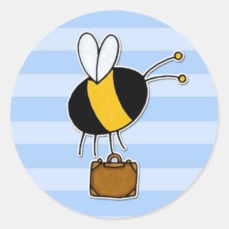 worker bee - salesman classic round sticker
