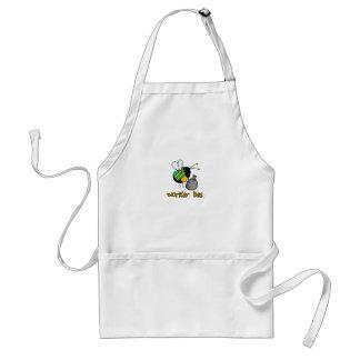 worker bee - sanitation worker adult apron