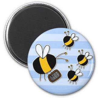 worker bee - teacher 2 inch round magnet