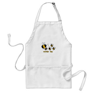 worker bee - teacher adult apron