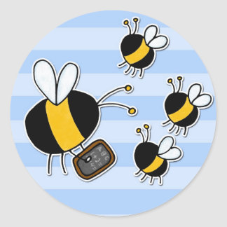 worker bee - teacher classic round sticker