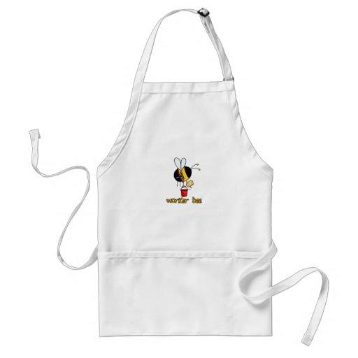 worker bee - window cleaner adult apron