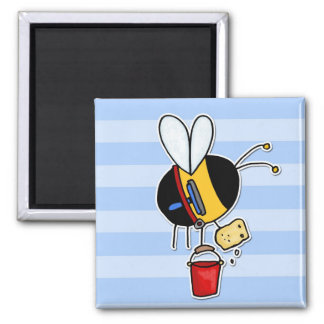 worker bee - window cleaner magnet