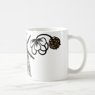 worker bee with clover coffee mug