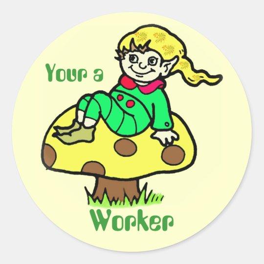 Worker Elf Reward Sticker