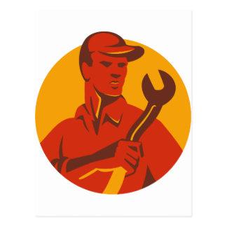 Worker Hat Spanner Front Postcard