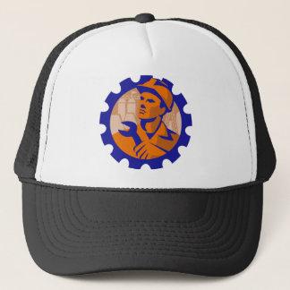 Worker In a Cog Trucker Hat