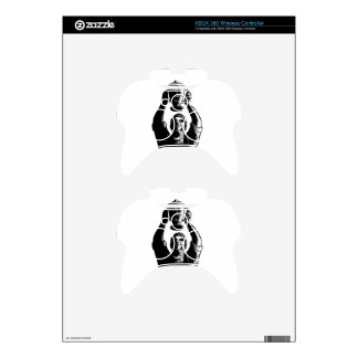 Worker Lifting Championship Cup Scratchboard Xbox 360 Controller Skin