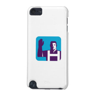 Worker Right Arm Raise to Vote Square Retro iPod Touch (5th Generation) Cover