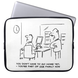 Worker told he's now part of the Office Family Computer Sleeve
