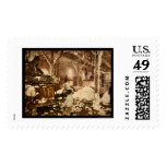 Workers Inside the Cotton Gin in Dahomey, MS 1898 Postage Stamps