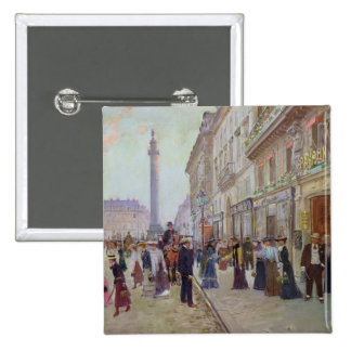 Workers leaving the Maison Paquin Pinback Buttons