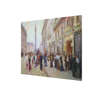 Workers leaving the Maison Paquin Canvas Print