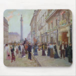 Workers leaving the Maison Paquin Mouse Pad