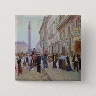 Workers leaving the Maison Paquin Pinback Button