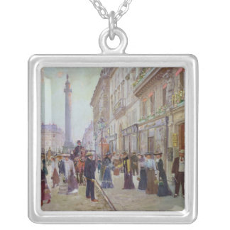 Workers leaving the Maison Paquin Silver Plated Necklace