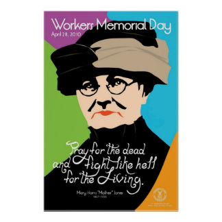 Workers Memorial Day Poster Vintage