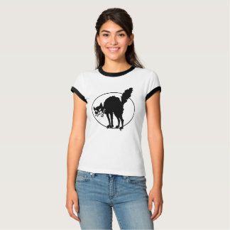 Workers of the World Black Sabo Cat Art T-Shirt