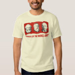"""Workers of the world, Unite!"" Marx, Engels, Lenin T-Shirt"