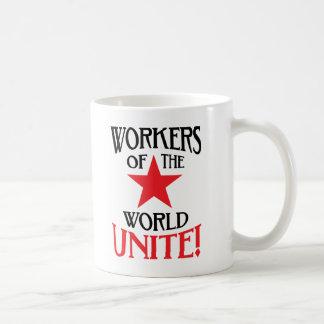 Workers of the World Unite! Marxist Slogan Coffee Mug