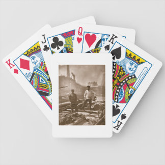 Workers on the 'Silent Highway', from 'Street Life Bicycle Playing Cards