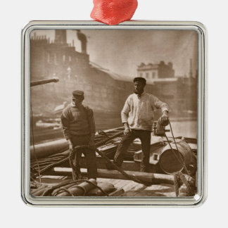 Workers on the 'Silent Highway', from 'Street Life Metal Ornament