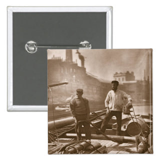 Workers on the 'Silent Highway', from 'Street Life Pinback Button