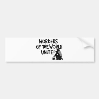 WORKERS THE WORLD UNITE GRAFFITI SPRAY-PAINTING MO BUMPER STICKER