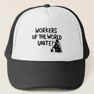 WORKERS THE WORLD UNITE GRAFFITI SPRAY-PAINTING MO TRUCKER HAT