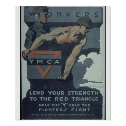 -Workers._Y.M.C.A._Lend_Propaganda Poster