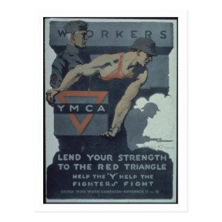 -Workers._Y.M.C.A._Lend_Propaganda Poster Postcard