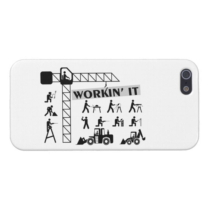 Workin It Blue Collar Workers Case For iPhone SE/5/5s