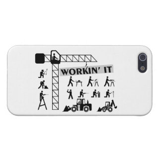 Workin It Blue Collar Workers Cover For iPhone 5