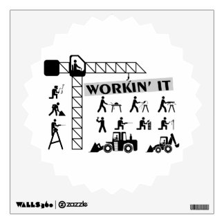Workin It Blue Collar Workers Wall Decal