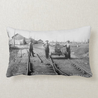 Workin' on the Railroad Vintage Rail Crew Workers Pillows