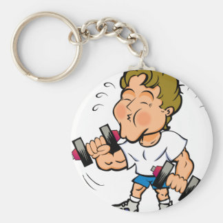Workin' out key chain