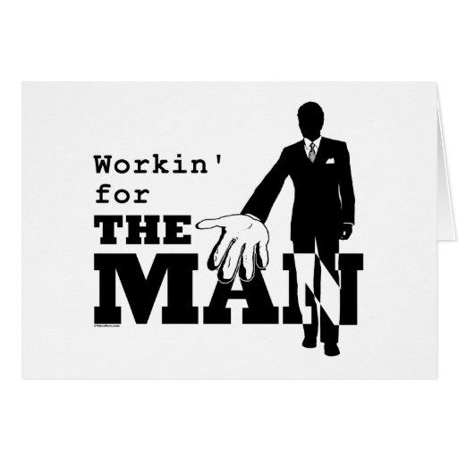 Workin para el hombre tarjetas