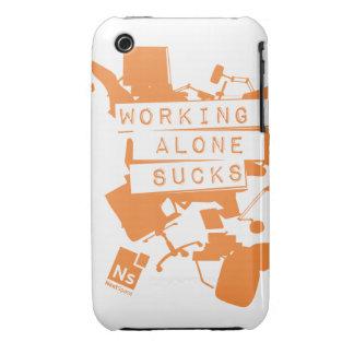 Working Alone Sucks iPhone 3 case