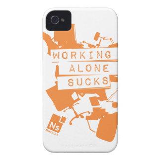 Working Alone Sucks iPhone 4 case