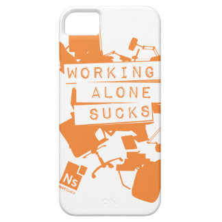 Working Alone Sucks iPhone 5 case with ID pocket