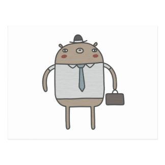 Working Bear Postcard