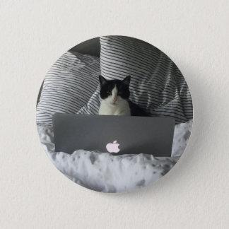 Working Cat Pinback Button