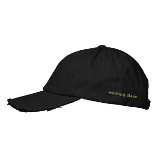 working class embroidered hat