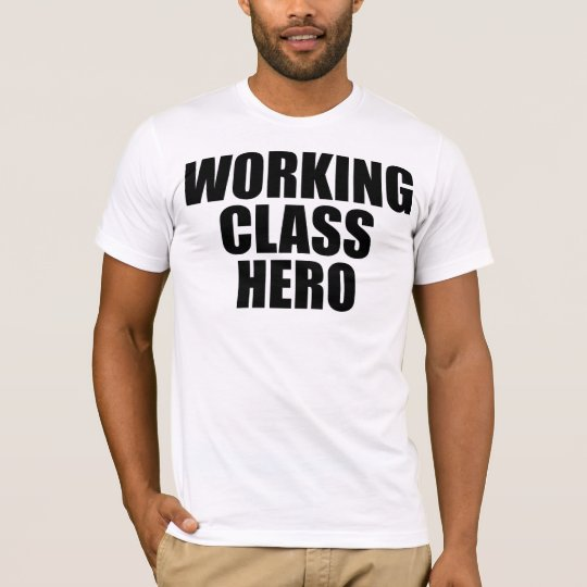 WORKING CLASS HERO - black logo- T-Shirt