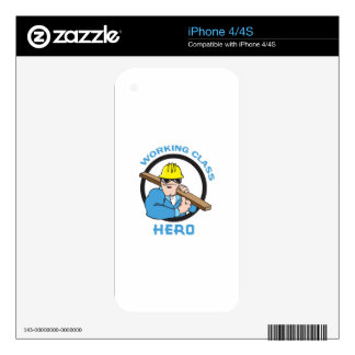 WORKING CLASS HERO SKIN FOR THE iPhone 4