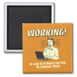 Working: Cut into Facebook Time 2 Inch Square Magnet